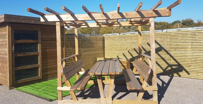 Mobilier De Jardin Banc Table Et Jeux Plein Air Nancy Avec Bois Nature