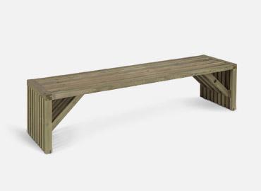 Mobilier de jardin, banc table à Nancy avec Bois Nature